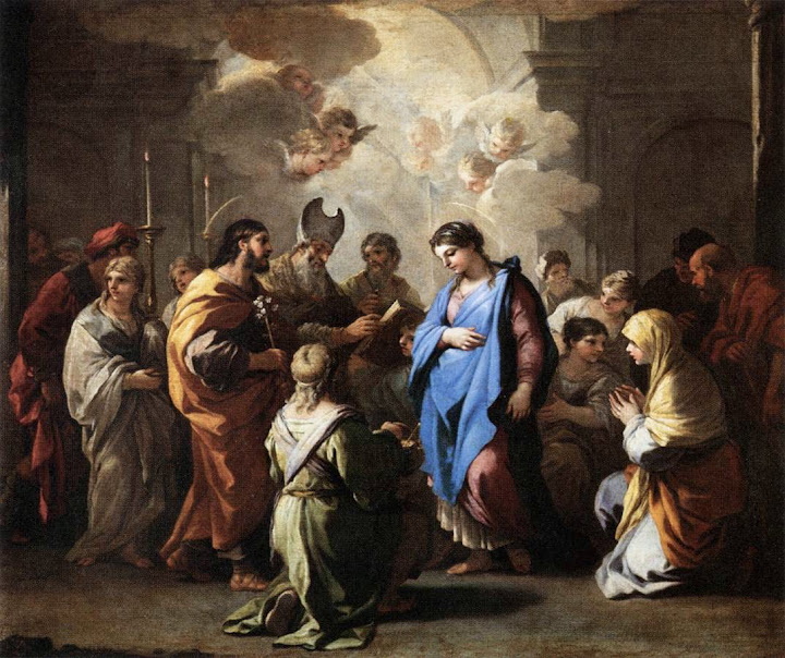 Luca Giordano - Marriage of the Virgin, c. 1688