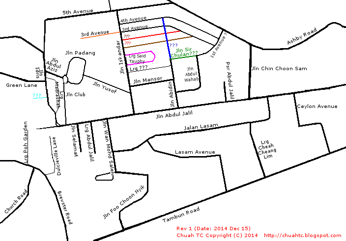 Map Of Old Greentown (Click to enlarge)