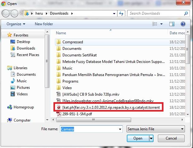 pilih file torrent