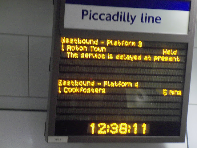 The service is delayed at present
