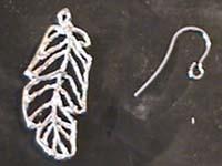 pendientes pluma accesorios   Pendientes de filigrana