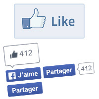 Facebook : Like button / Bouton J'aime