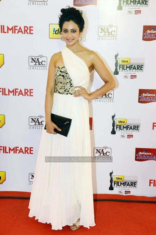 Rakul Preet Singh during the 61st Idea Filmfare Awards South, held at Jawaharlal Nehru Stadium in Chennai, on July 12, 2014.