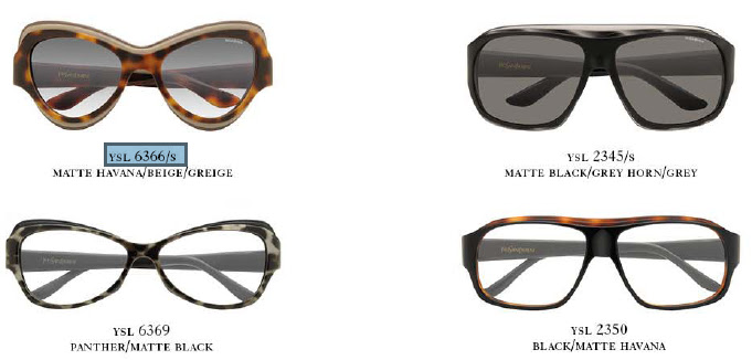 YSL Eyewear Capsule Collection Spring 2012