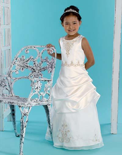 Children's Pageant Flower Girl Kleid , Mädchen Kleider