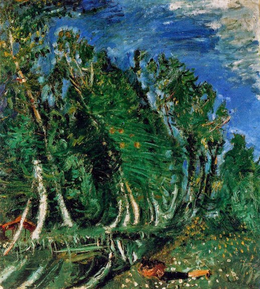 Chaim Soutine - Landscape with Reclining Figure, Champigny