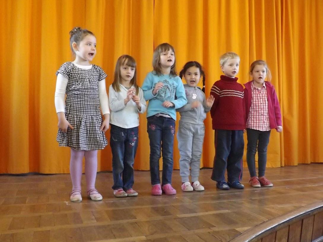 Auch unsere Vorschüler trugen zum gelingen des Programmes erfolgreich bei! (Bild A.M. für © schuletantow.de)