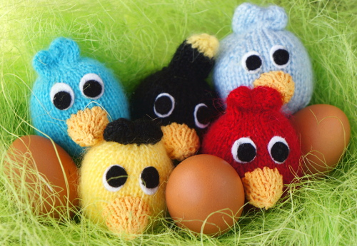 Easter chicks and eggs basket