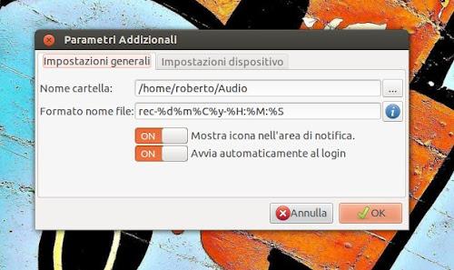 Audio Recorder su Ubuntu