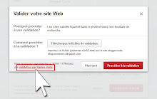 Validation par balise meta