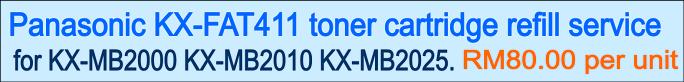 Panasonic KX-FAT411 toner cartridge refill service