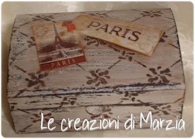 scatola shabby dedicata a Parigi
