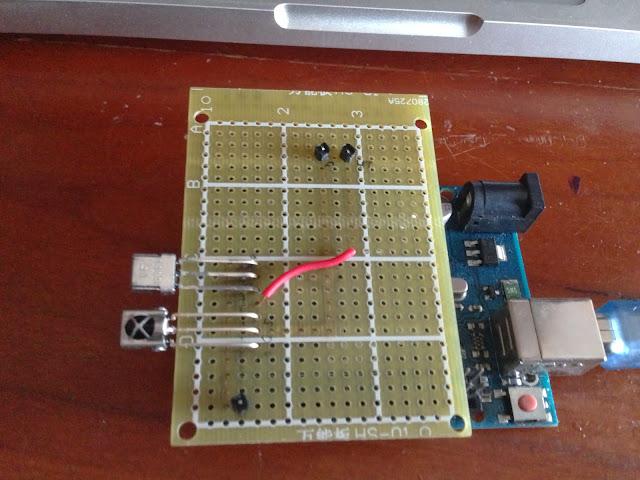 电路和 Arduino 连接以后