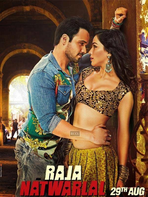 Emraan Hashmi and Humaima Malick on the poster of the Bollywood film Raja Natwarlal.