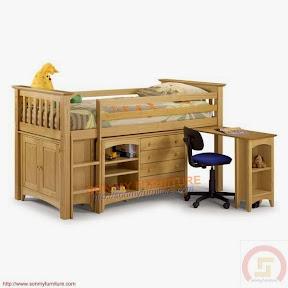Giường ngủ-bàn làm việc-tủ hồ sơ
