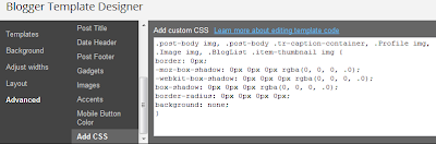Blogger Template Designer,add css