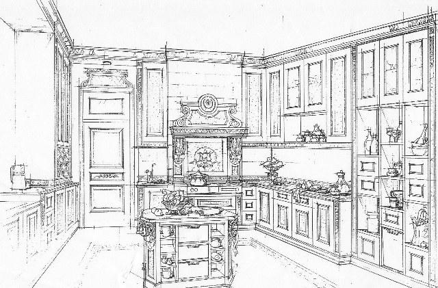 sketsa klasik r dapur cv trisula jaya