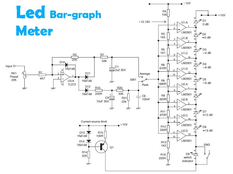 lm2901 led bar graph meter diy circuit rh avecircuits blogspot com