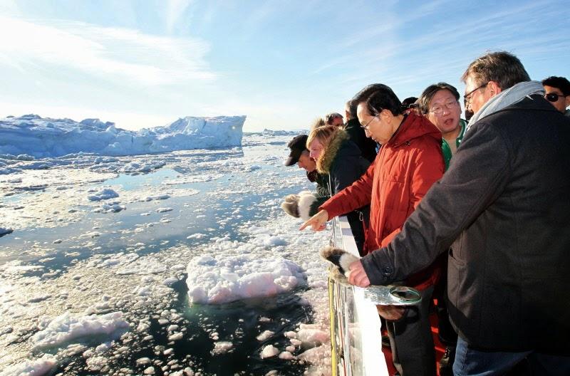 그린란드를 방문한 이명박 전 대통령