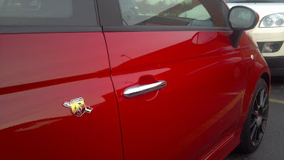 US 500 Abarth door emblem