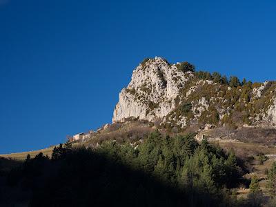 Vista lateral del Roc de Peguera