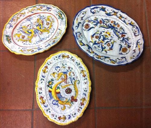Piatti da portata ceramiche rinascita - Piatti da portata particolari ...