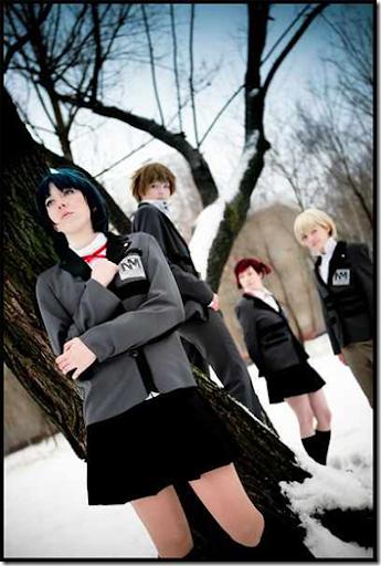 persona: trinity soul cosplay - morimoto kanaru, kanzato shin, kayano megumi, and kanzato jun