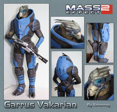 Mass Effect 2 Garrus Papercraft
