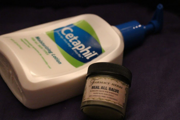 hand lotion and lip balm