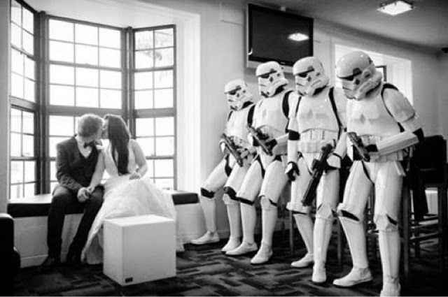 Star Wars Wedding Bride and Groom couple