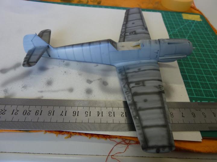 Bf-109 E-3 Tamiya 1/48 - Reforma pintura P1020464