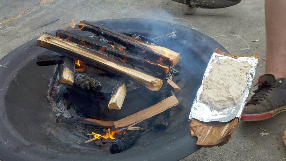 Cooking bannock and Cowboy casserole