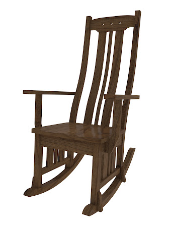 Colonial Rocking Chair in Mahogany Oak