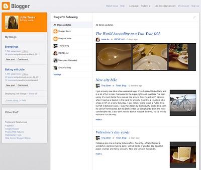 Blogger 2011 Modern User Interface, Killer Mobile Experience