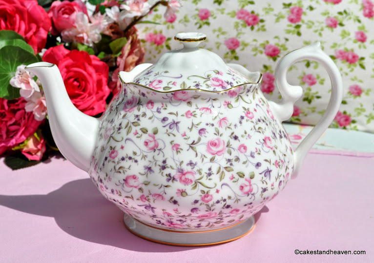 Royal Albert Rose Confetti Teapot