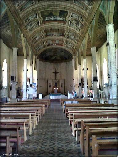 sibonga  Church inside view