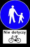 """Znak nakazuje pieszym korzystanie z drogi przeznaczonej wyłącznie do ruchu pieszego. Stosowany tam, gdzie ze względu na duże natężenie ruchu pieszego, wyeliminowanie ruchu pojazdów zapewnia poprawę bezpieczeństwa.  Umieszczona pod znakiem tabliczka T-22 """"tabliczka wskazująca, że znak nie dotyczy rowerów jednośladowych""""."""