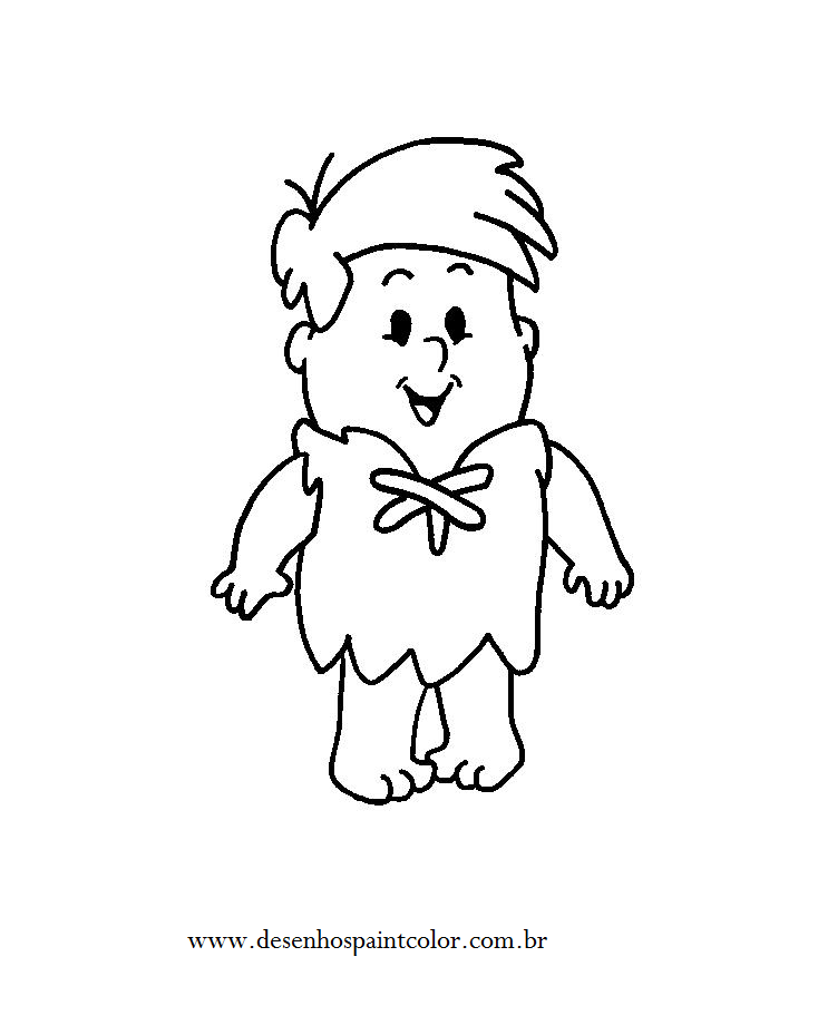 Desenho Infantil Para Colorir Barney Rubble Baby Desenho Dos