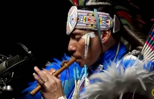 Doing the Robot in Regalia: Supaman Fuses Fancy Dance, Flute, Hip Hop