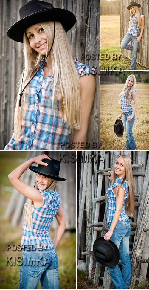 Stock Photo: Cowgirl 2
