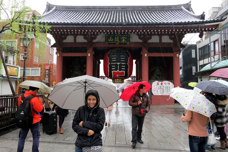 Sensoji Temple in the rain