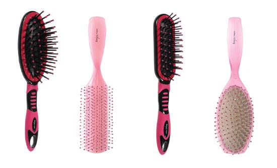 Escovas cor de rosa