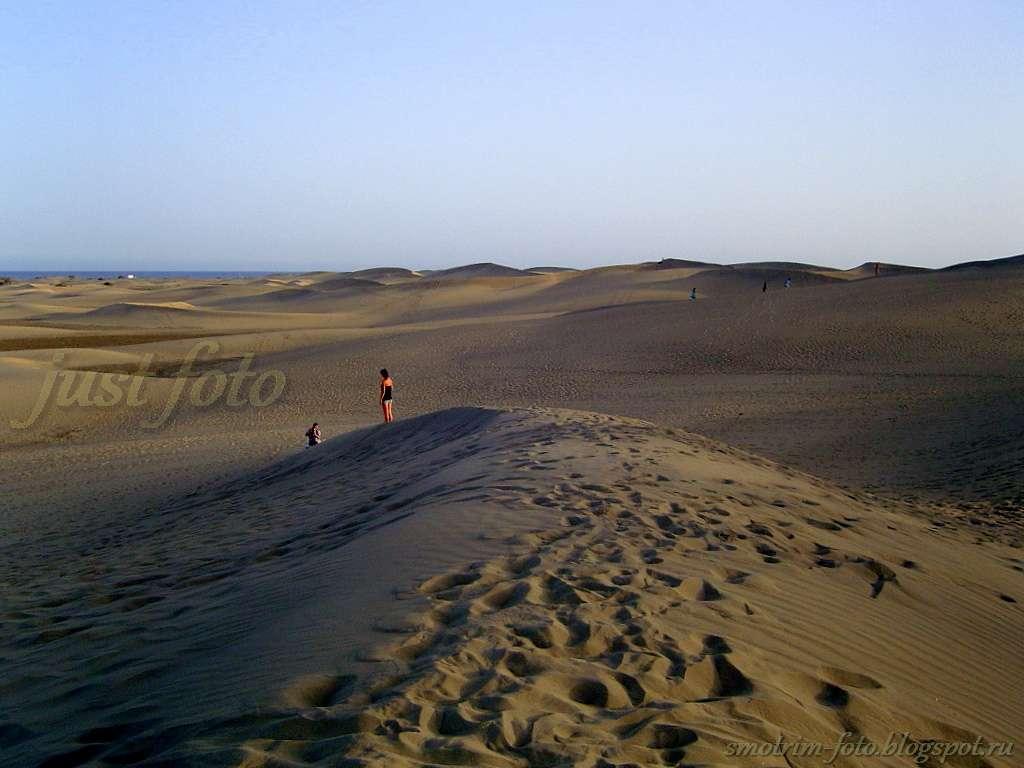 Вечер в дюнах на Гран Канарии