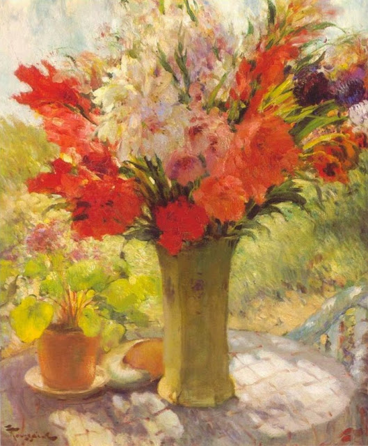 Fernand Toussaint - Flowers on a Sunny Table