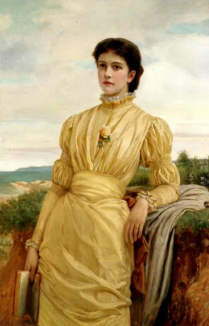 Charles Edward Perugini - Portrait of a Lady