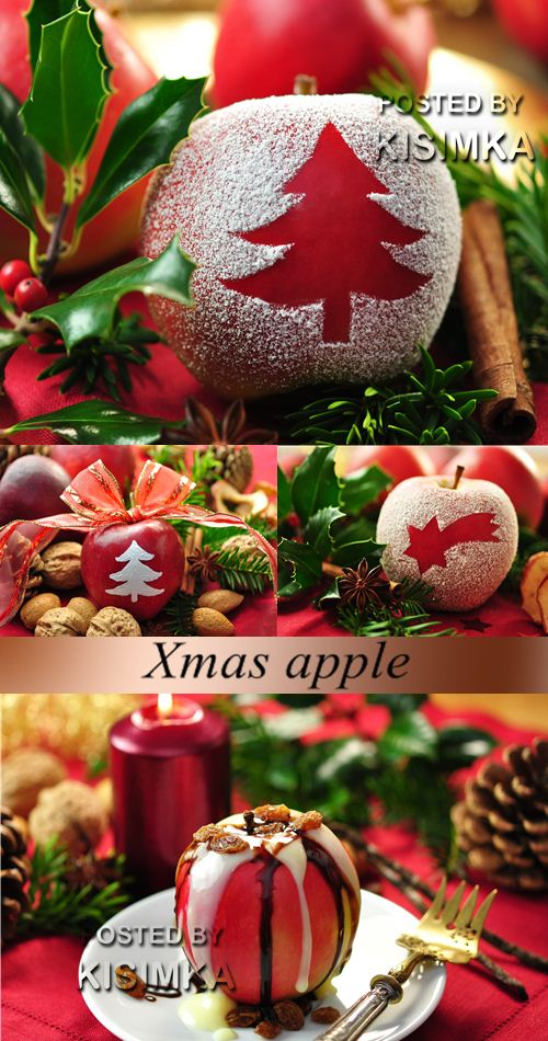 Stock Photo: Xmas apple