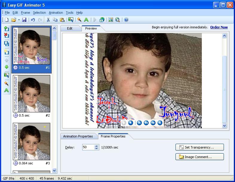 Easy GIF Animator 5.1 Pro Full - Phần mềm làm ảnh động - Image 10