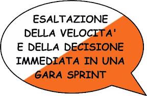 Esaltazione della velocità e della decisione immediata in una gara sprint
