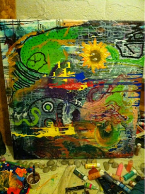 hippie, art, painting, paint, trippy, psychedelic