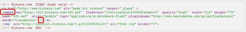 cara memasang widget histats